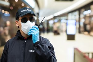 masked security guard