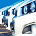 car dealership parking lot